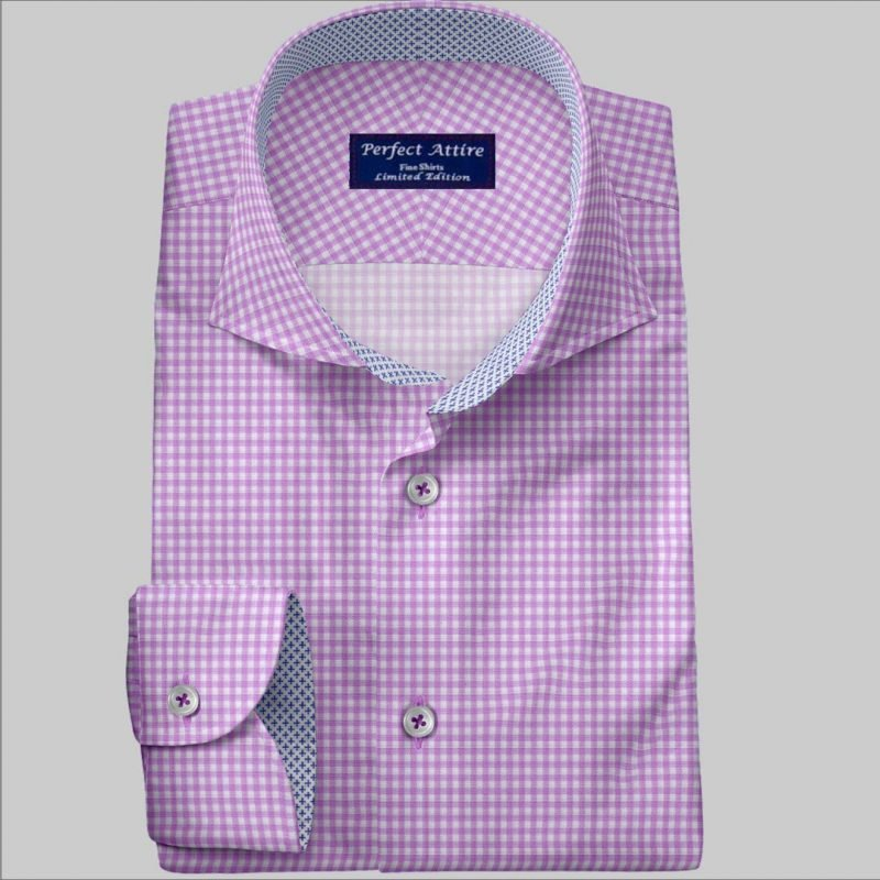 Checked Bespoke Dress Shirt customized and Made to Measure
