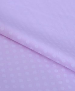 Pink Dots Sateen Giza cotton shirting fabric in 2 ply 100s