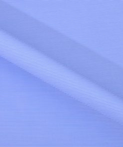 Blue Hairline Stripes Giza cotton shirting fabric in 1 ply 90s