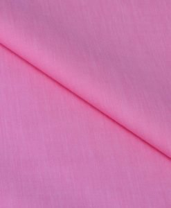 Pink Solid Giza cotton shirting fabric in 1 ply 70s