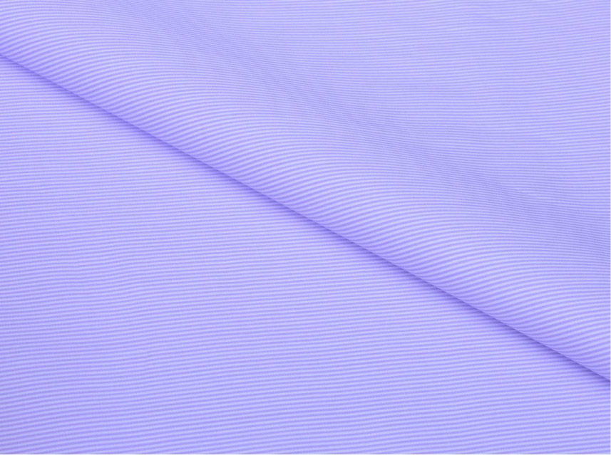 Lavender Pin Stripes Giza cotton shirting fabric in 1 ply 90s
