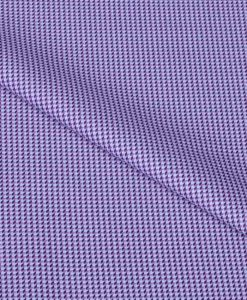 Purple Hounds Tooth Giza cotton shirting fabric in 2 ply 100s