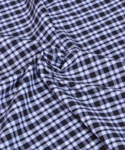 Black and White Checks Giza cotton shirting fabric in 1 ply 60s