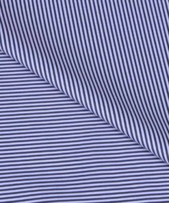 Black Dress Stripes Giza cotton shirting fabric in 1 ply 70s