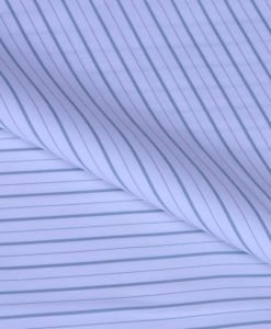Green Stripes Giza cotton shirting fabric in 2 ply 100s