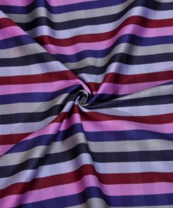 Multi Colour Broad Stripes Giza cotton shirting fabric in 1 ply 70s