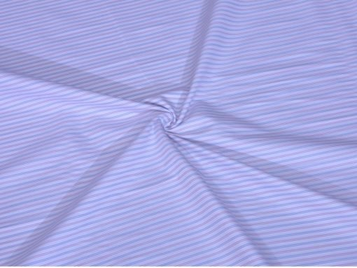 Pink and Blue Shadow Stripes Giza cotton shirting fabric in 2 ply 90s