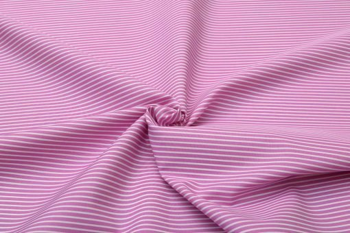Magenta Bengal Striped Custom Dress Shirt Fabric - Perfect Attire