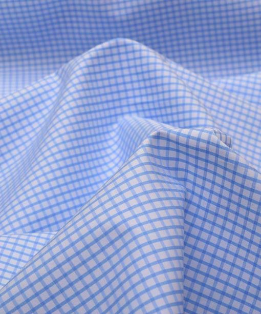 Sky Blue Graph checks Shirt 120081 (1)