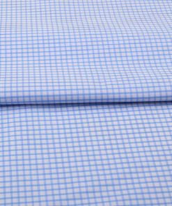 Sky Blue Graph checks Shirt 120081 (2)