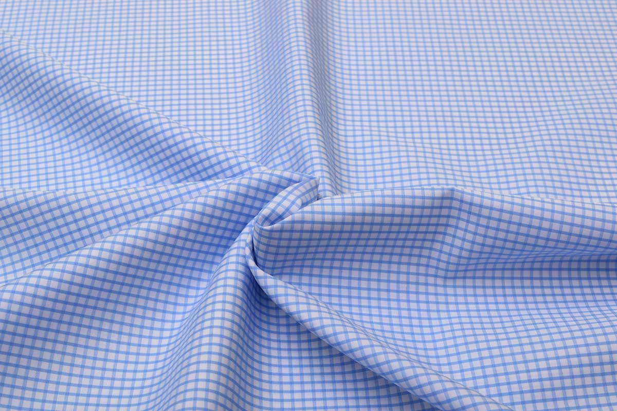 Sky Blue Graph checks Shirt 120081 (3)
