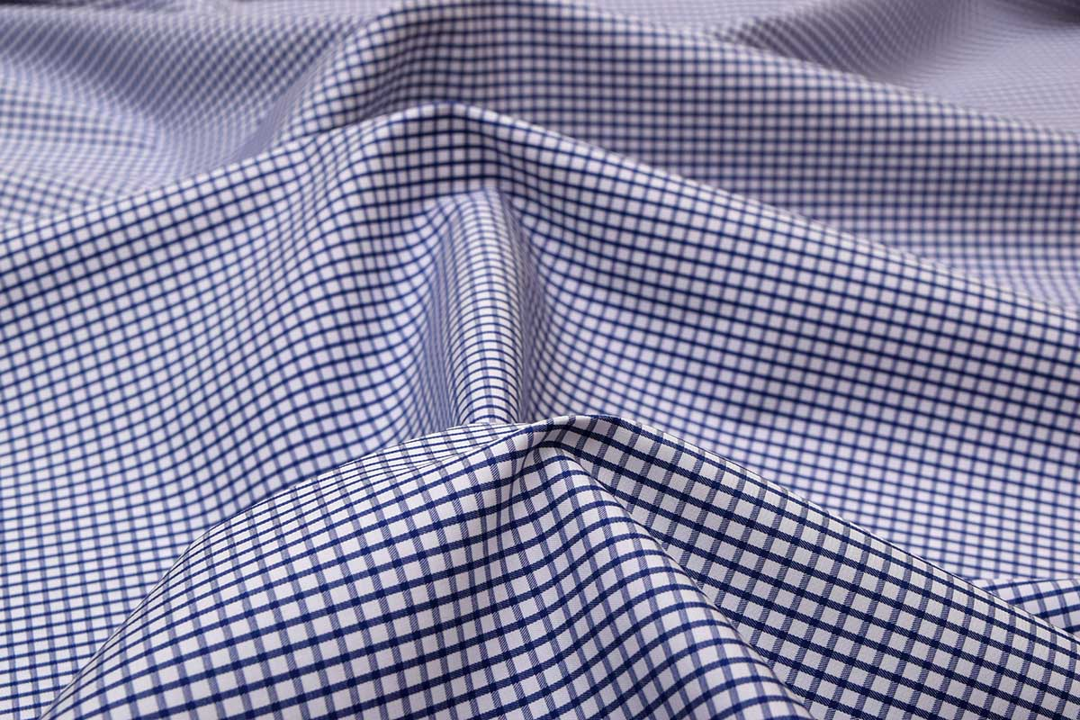 Deep Blue Graph Checks Shirt 120082 (1)