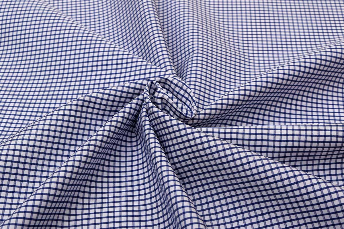 Deep Blue Graph Checks Shirt 120082 (3)