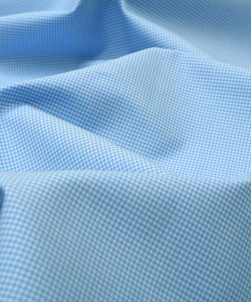 Sky Blue Micro Checks Shirt 120085 (1)