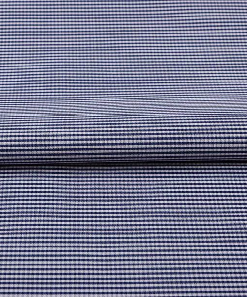Navy Blue Micro Checks Shirt 120086 (1)