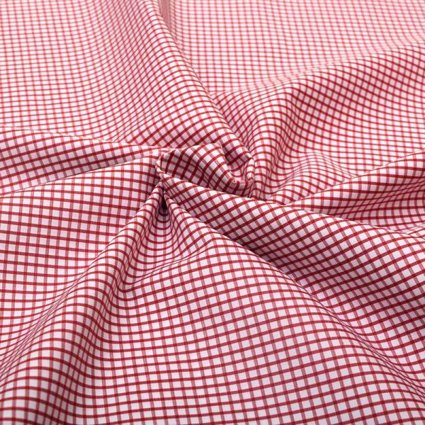 Red Graph Checks Shirt 120101 (1)