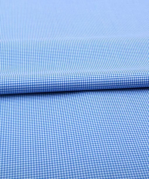 Blue Micro Checks Shirt 120104 (3)