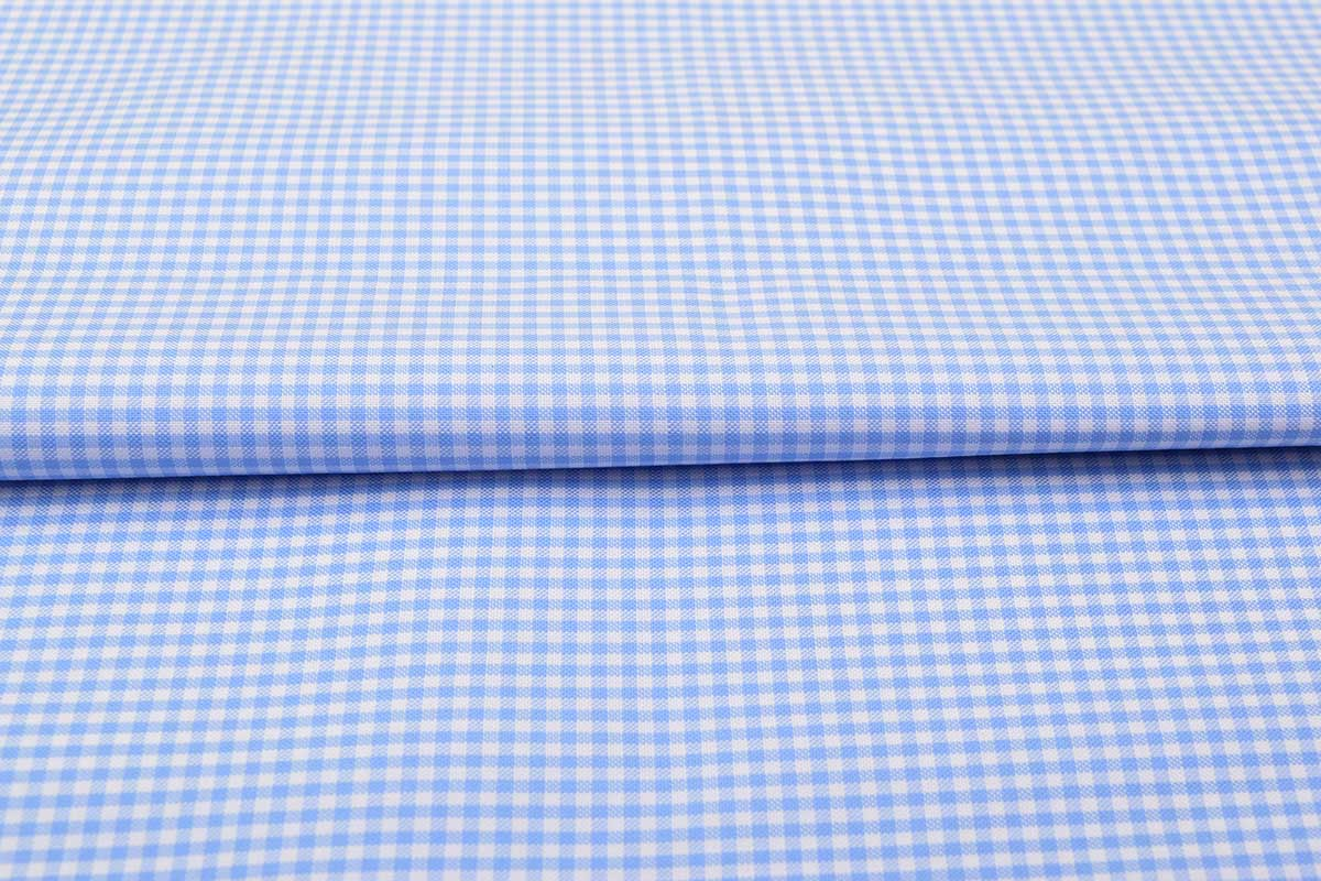 Sky Blue Mini Checks Shirt 120115 (1)