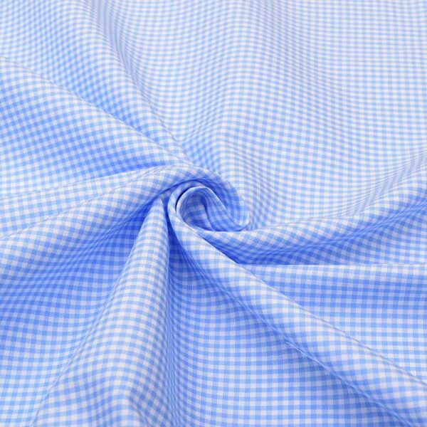 Sky Blue Mini Checks Shirt 120115 (2)