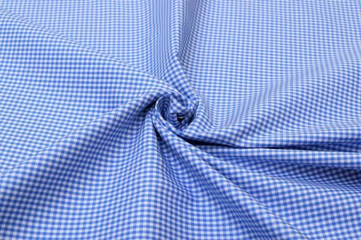 Blue Mini Checks Shirt 120117 (2)
