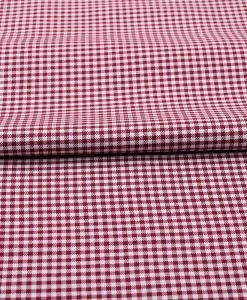 Maroon Mini Checks Shirt 120119 (1)