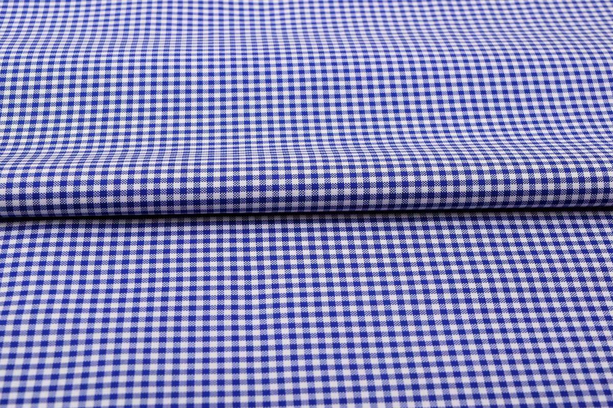 Navy Blue Mini Checks Shirt 120121 (1)