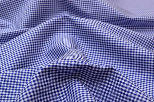 Navy Blue Mini Checks Shirt 120121 (3)