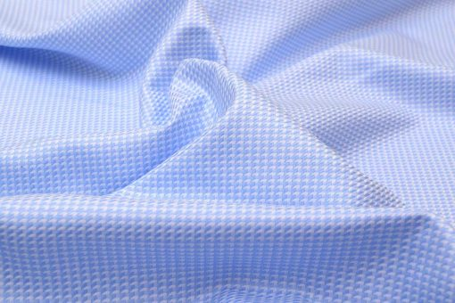 Sky Blue Houndstooth Shirt 120251 (1)