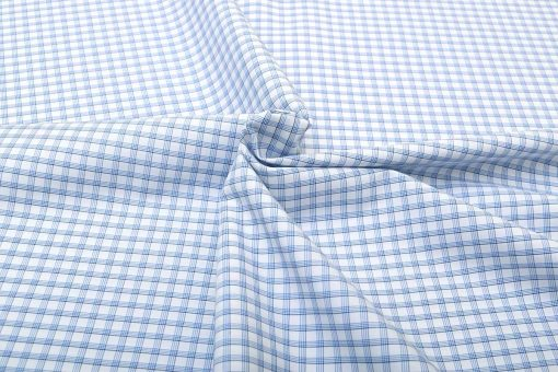 Blue Wrinkle Free Graph Checks Shirt 120312 (1)