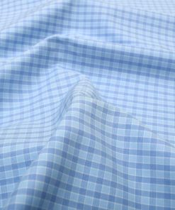 Blue Wrinkle Free Gingham Shirt 120317 (3)