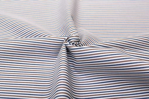 Brown and Blue Candy Stripes Shirt 121156 (1)