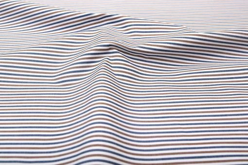 Brown and Blue Candy Stripes Shirt 121156 (2)