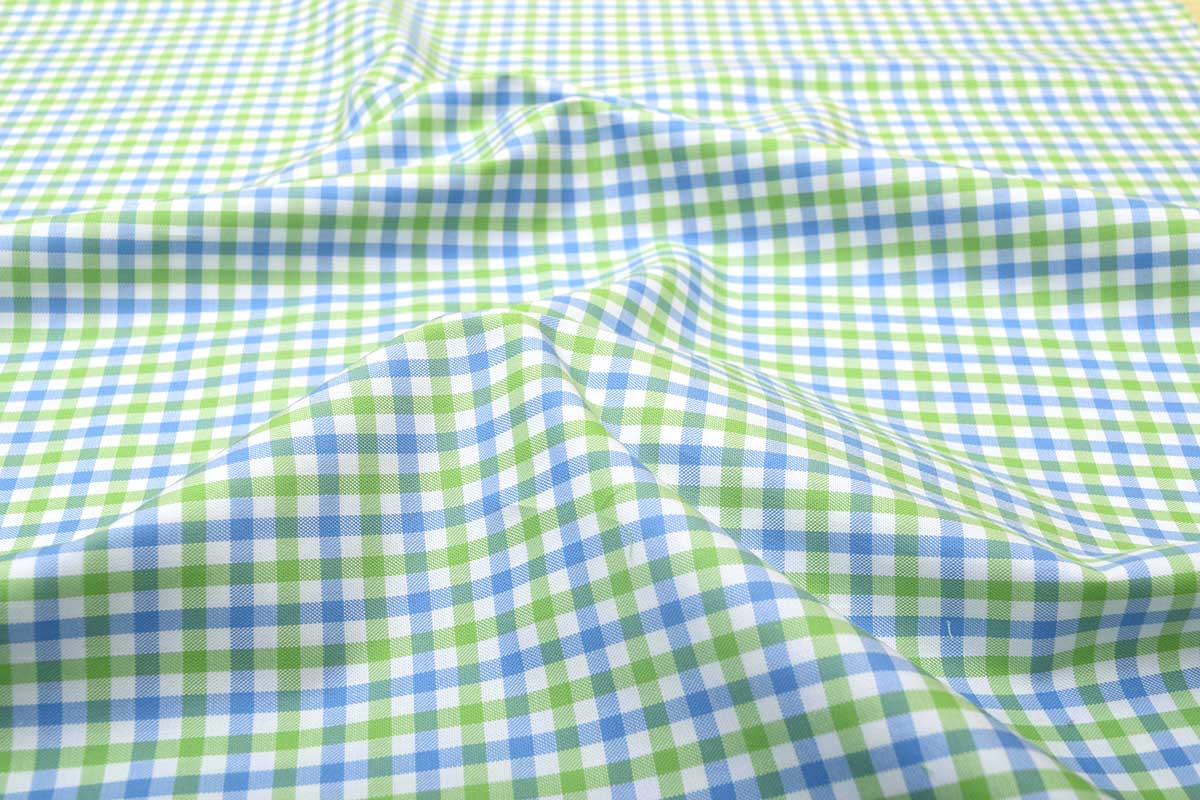 Green and Blue Gingham Shirt 121189 (1)