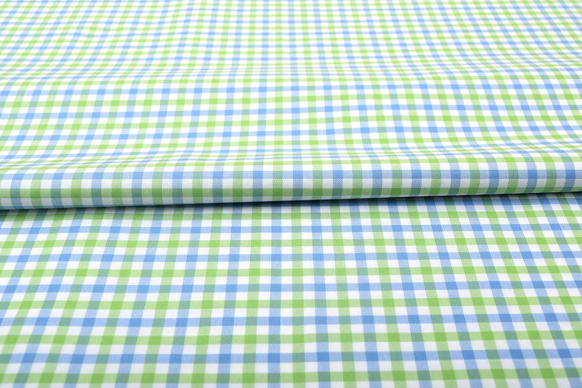 Green and Blue Gingham Shirt 121189 (2)