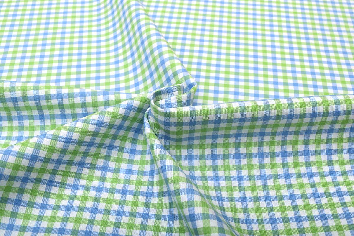 Green and Blue Gingham Shirt 121189 (3)