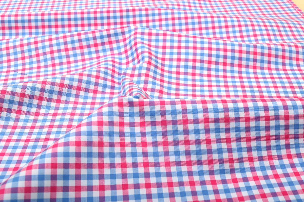 Pink and Blue Gingham Shirt 121190 (1)