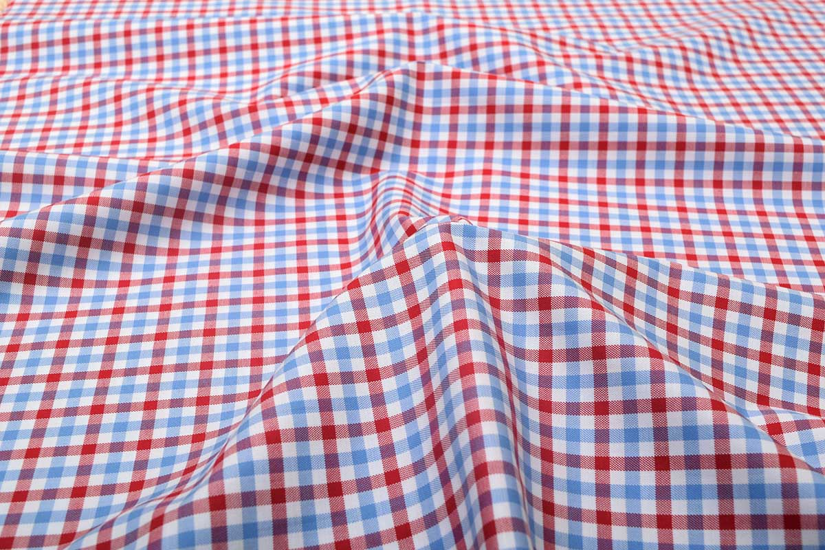 Red and Blue Gingham Shirt 121191 (1)