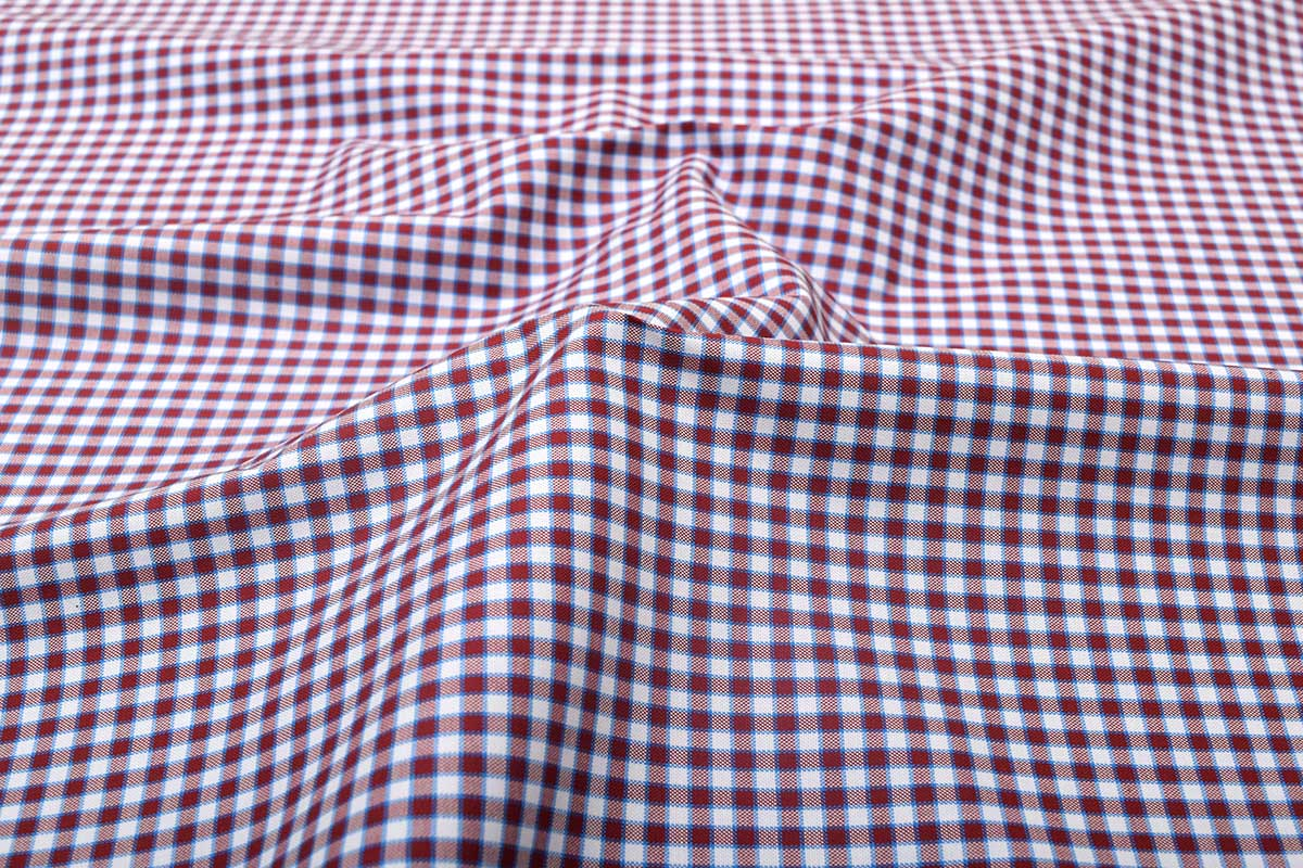 Maroon Gingham Shirt 121193 (1)