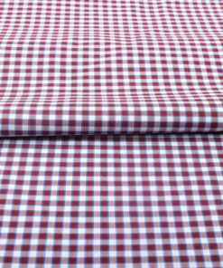 Maroon Gingham Shirt 121193 (2)