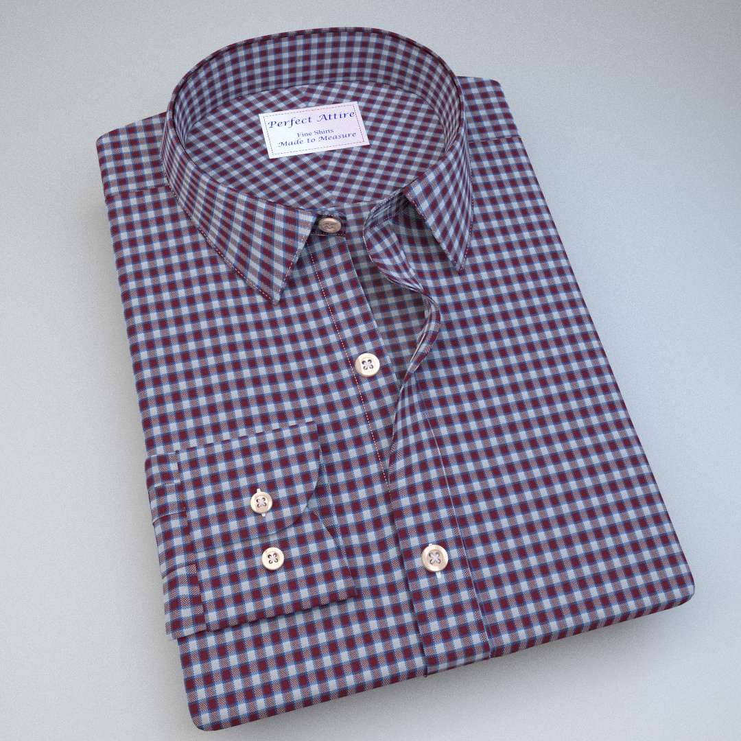 Green and Blue Gingham Shirt 121193