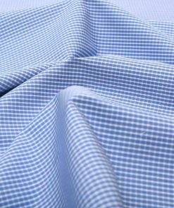 Blue Wrinkle Free Checks Shirt 805104 (1)