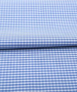 Blue Wrinkle Free Checks Shirt 805104 (2)