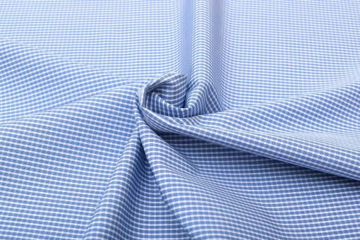 Blue Wrinkle Free Checks Shirt 805104 (3)