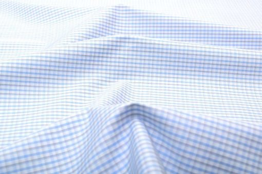 Blue & Black Wrinkle Free Checks Shirt 805146 (1)