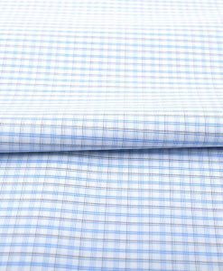 Blue & Black Wrinkle Free Checks Shirt 805146 (2)