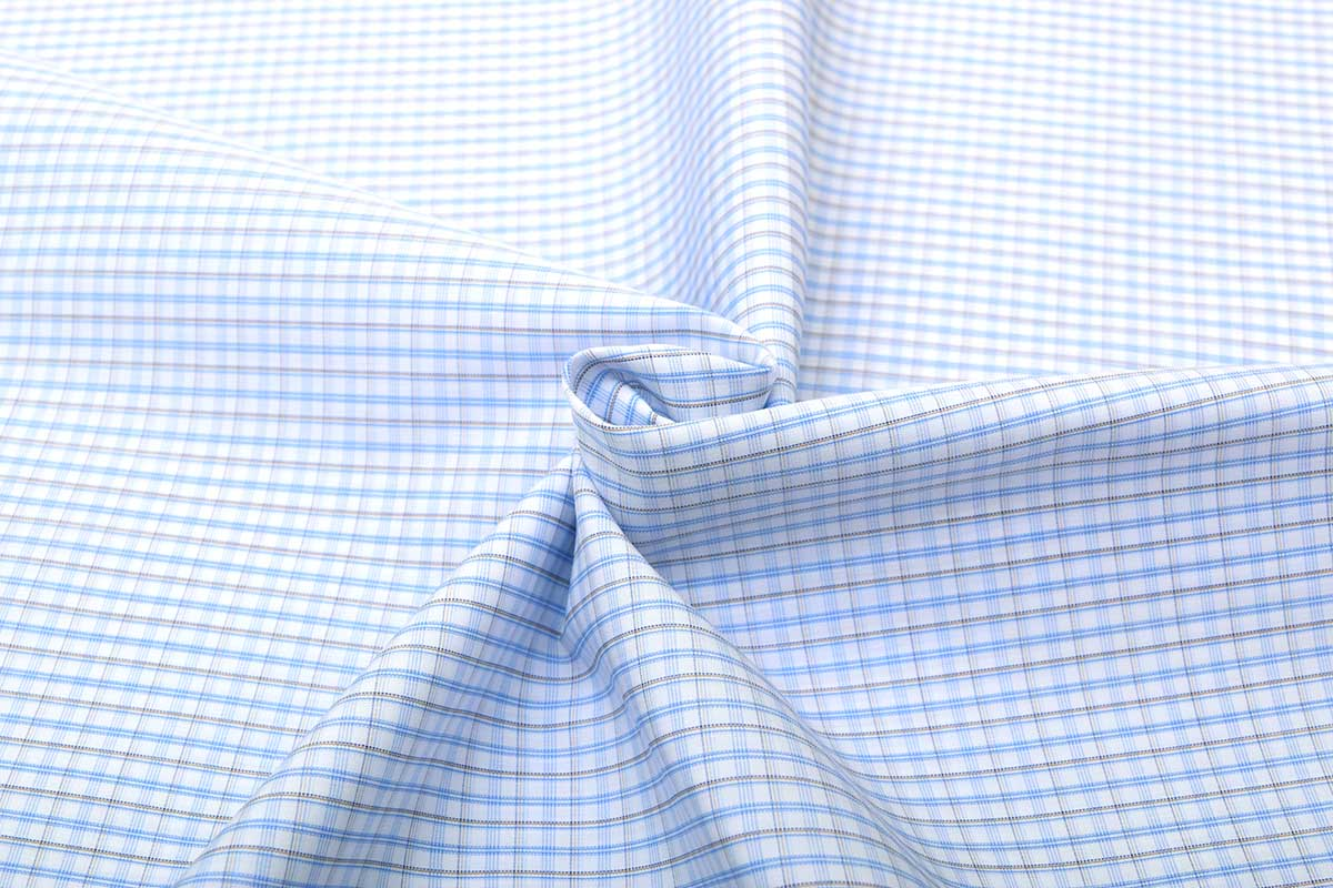 Blue & Black Wrinkle Free Checks Shirt 805146 (3)