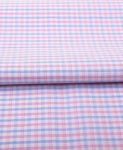 Red & Blue Wrinkle Free Checks Shirt 805148 (2)