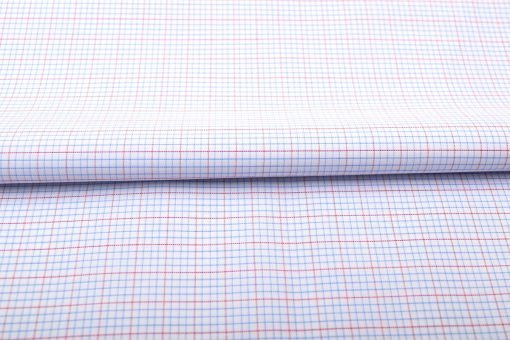 Blue and Red Mini Graph checks Shirt 805150-(1)-