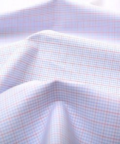 Blue and Red Mini Graph checks Shirt 805150-(3)