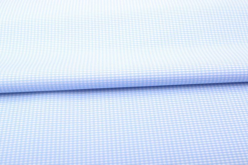 Blue Dobby Wrinkle Free Checks Shirt 806119-(1)
